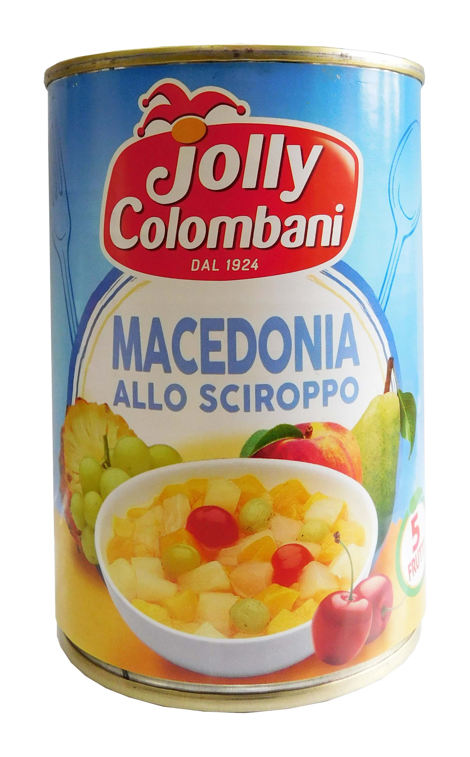 Kompot Macedonia MIX 5 dr. ovoce Jolly Colombani 411g