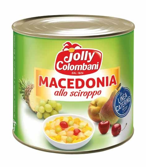 Kompot Macedonia MIX 5 dr. ovoce Jolly Colombani 2,65 kg